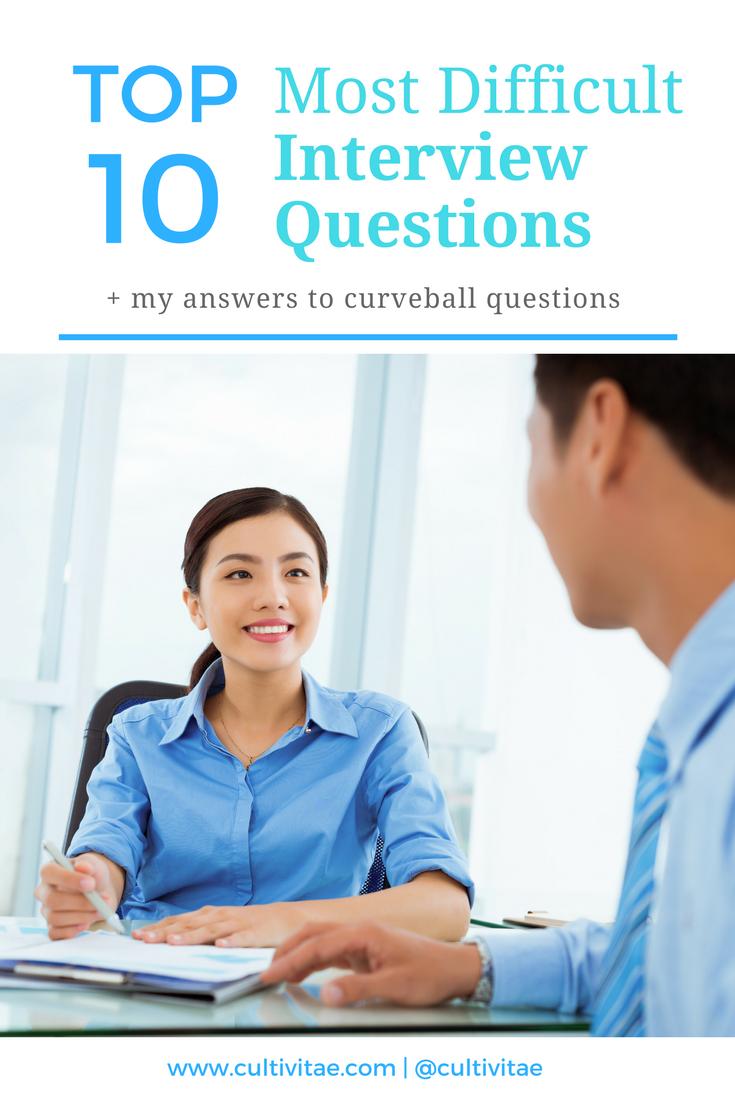 difficult job interview questions