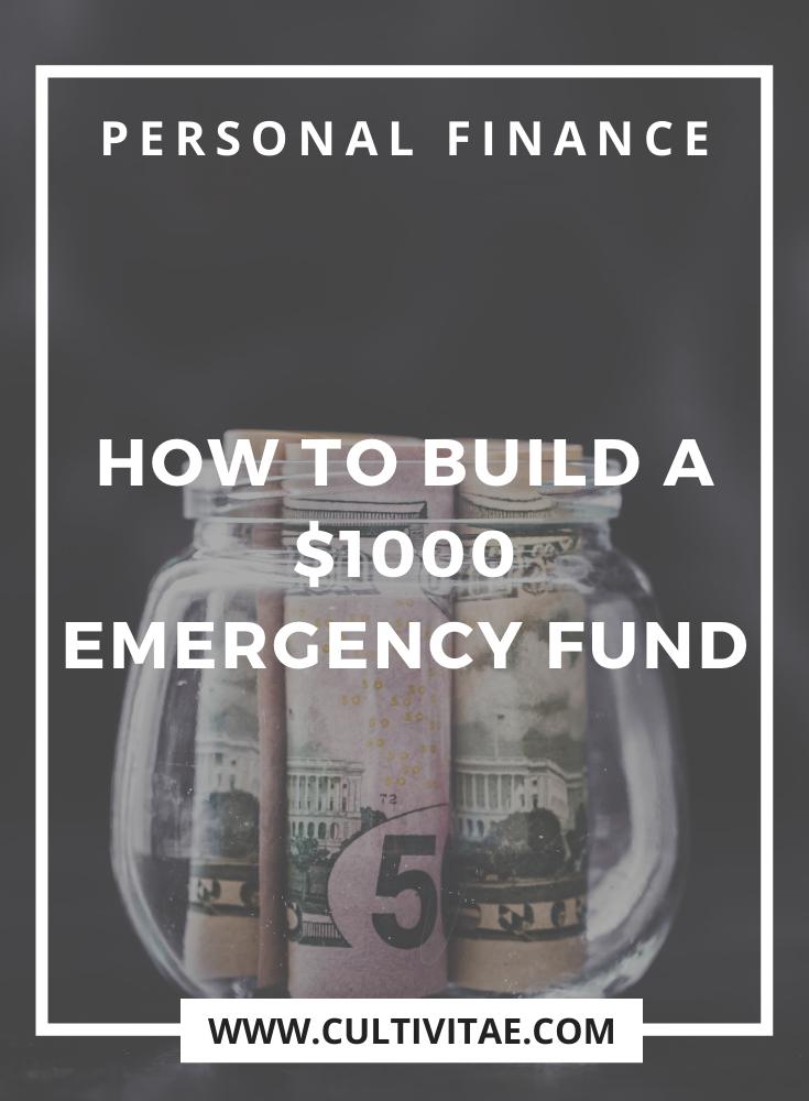 how to create a $1k emergency fund