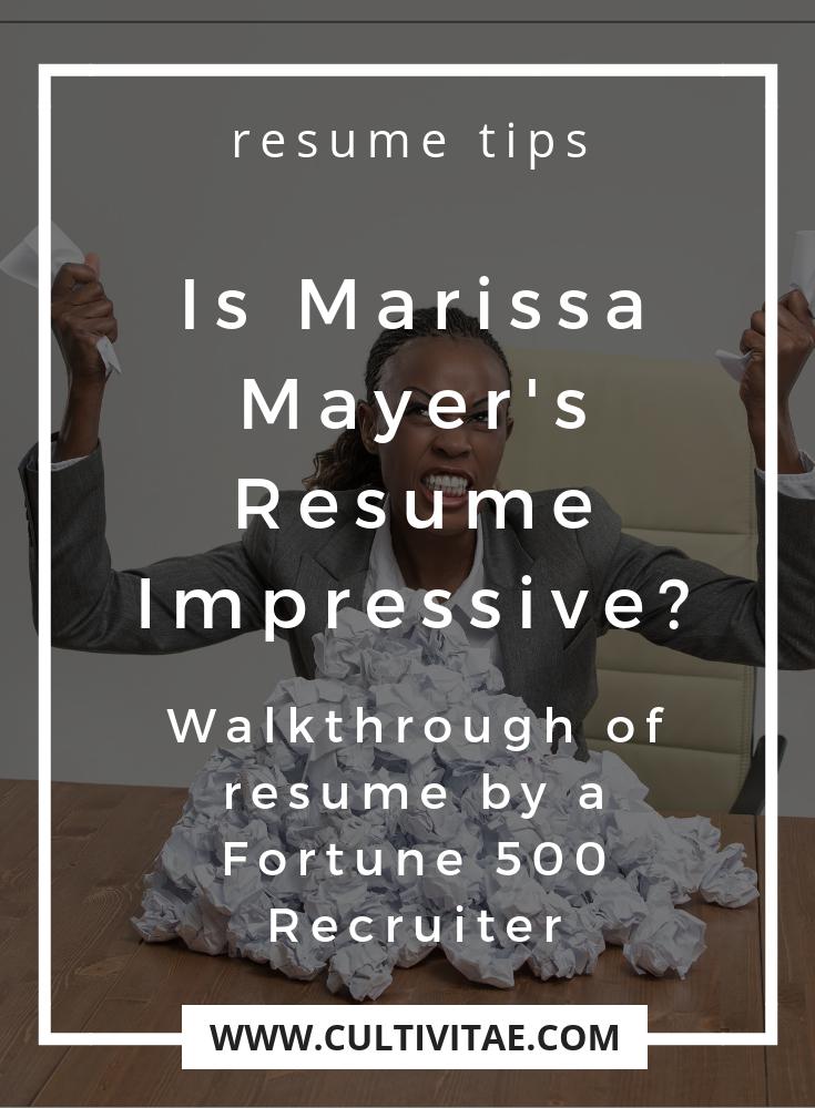 is marissa mayers resume impressive